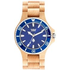 Wewood Date Mb Wood Bracelet Watch, 42Mm ($120) ❤ liked on Polyvore featuring jewelry, watches, wood jewelry, watch bracelet, wood carved jewelry, indian jewelry and indian jewellery