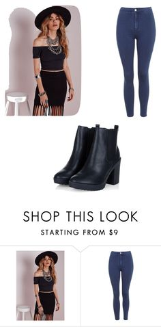 """""""Untitled #4951"""" by clarry-sinclair ❤ liked on Polyvore featuring Missguided and Topshop"""