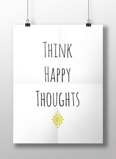 Think Happy Thoughts Peter Pan Printable by WatercolorPlanners