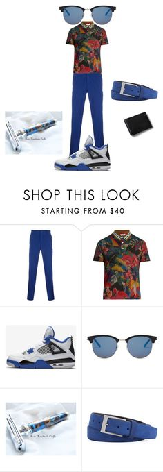 """""""Untitled #123"""" by rosshandmadecrafts ❤ liked on Polyvore featuring The Gigi, Valentino, NIKE, Yves Saint Laurent, Robert Graham, Lands' End, men's fashion and menswear"""
