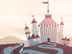 Tents designed by Glenn Thomas. Connect with them on Dribbble; Flat Design Illustration, Digital Illustration, Tent Design, Pierrot, Pretty Art, Tents, Kids Rugs, Style Inspiration, Projects