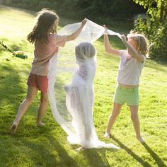 Mummy Wrap Game - race to wrap someone in roll of toilet paper, crepe paper or tulle then mummy hops to the finish