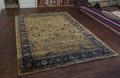 Hand Knotted Mashad Palace Rug from India. Length: 361.0cm by Width: 274.0cm. Only £5538 at https://www.olneyrugs.co.uk/shop/rugs-for-sale/indian-mashad-palace-21689.html    Come and view our distinguished collection of Persian and Oriental rugs, carpets, kilim ottomans and Kilim cushions at www.olneyrugs.co.uk