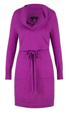 """SHIVER"" orchid purple sweater dress 