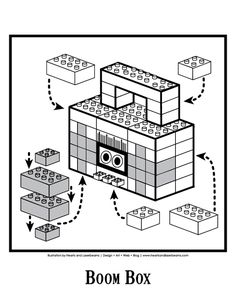 Lego Birthday Party - Boom Box Diagram free download from Hearts and Laserbeams