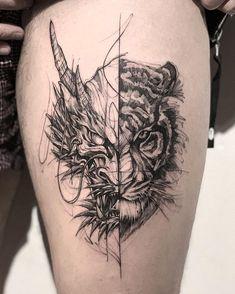 Dragon Tiger Tattoo dragon tattoo tattoo tattoo designs tattoo for men tattoo for women tattoo tattoo tattoo tattoo tattoo tattoo tattoo tattoo ideas big dragon tattoo tattoo ideas Trendy Tattoos, New Tattoos, Body Art Tattoos, Sleeve Tattoos, Tattoos For Guys, Colorful Tattoos, Black Tattoos, Temporary Tattoos, Tatoos