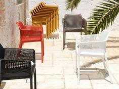 Chaise de jardin en résine Grafik blanc | Salle à manger inspiration ...
