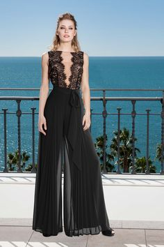Party dress, Cocktail Dresses, Mother of the bride dresses. Complete Spring-Summer Balcón del Mar Collection Sonia Peña - Ref. 1190230 Trousers<br>Ref: 1190229 Top<br>Ref: 1190231 Set Jumpsuit For Wedding Guest, Girl Fashion, Fashion Outfits, Casual Dresses, Formal Dresses, Bride Dresses, Jumpsuit Outfit, Jumpsuits For Women, The Dress