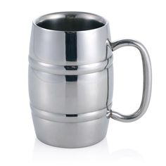 Stainless Steel Cold Brew Barrel Mug | 14oz