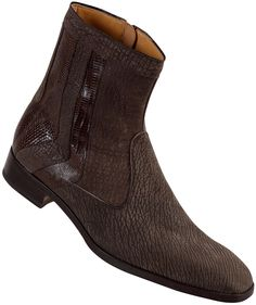 "Mauri - ""2226"" Shark Suede Brown Lizard Boot Skin: Shark Suede/Lizard Style: 2226 Color: Brown This product is a 'custom order' provided by collaboration with Dudes Boutique & Mauri. Prior to sending"