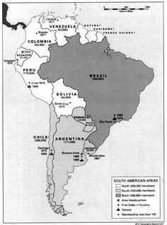59. Mormoni w Ameryce Południowe (stan na 1 stycznia 1991)