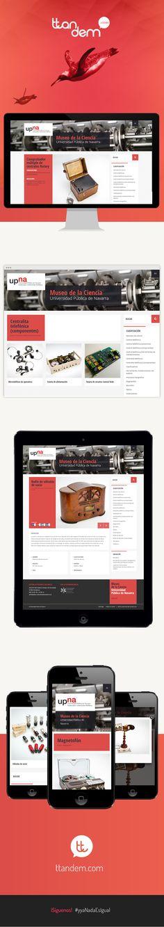 El sitio web del Museo de la Ciencia de la Universidad Pública de Navarra