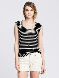 Striped Linen/Cotton Tank