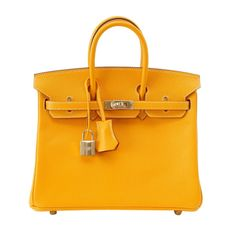 HERMES BIRKIN 25 JAUNE D OR Candy Series epsom PERMABRASS