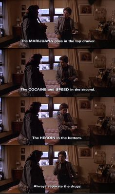 The Goonies...just mentioned this exact scene. Today :)