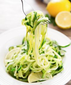 Zucchini noodles are tossed in a simple garlic and lemon herb sauce for a very light and easy dish. After nearly two weeks of indulging on holiday foods, today was back to business and an attempt to eat healthy again. I love zucchini noodles, so I actually look forward to lunch meals like this. The …