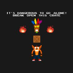 Awesome 'Crash+Bandicoot+-+Zelda+Crossover' design on TeePublic! - Funny Cool Shirt (SciFi Tshirts)