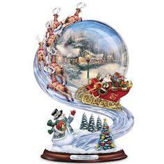 Sculpture: Thomas Kinkade Sharing Christmas Greetings Sculpture