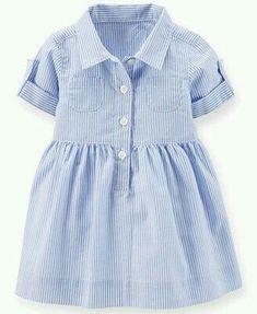 US-Dollar Carters Baby Girls Gestreiftes Hemdkleid - Kinder - Macy & # s - Farbe Site Little Girl Fashion, Little Girl Dresses, Fashion Kids, Girls Dresses, Infant Dresses, 50s Dresses, Elegant Dresses, Cute Baby Dresses, Peasant Dresses