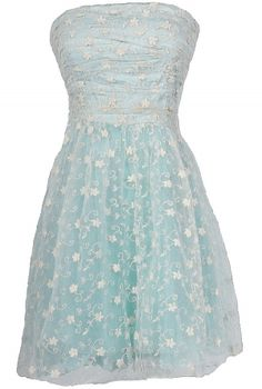 Cloud Fairy Embroidered Tulle Designer Dress  www.lilyboutique.com