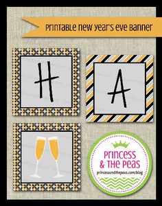 New Years Eve Printable Banner  #partyprintables #newyearseveparty #newyearseve