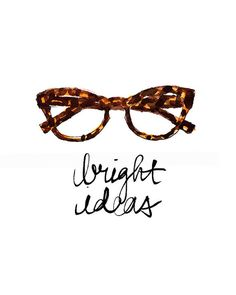 Art Print: Bright Ideas Glasses Print