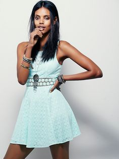 Free People Fitted With Daisies Dress, $69.95