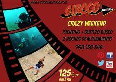 #Crazy weekend con #Siroco Aventuras. #Turismo Activo en la #Region de Murcia. #puenting, #bungee jumping, #buceo