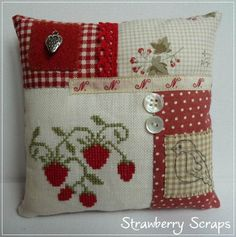 Stitches by Carin Love the finishing, great use of small pieces a s
