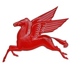 Beautiful Embossed Mobil Gas Pegasus Sign, circa 1930s   From a unique collection of antique and modern signs at http://www.1stdibs.com/furniture/folk-art/signs/