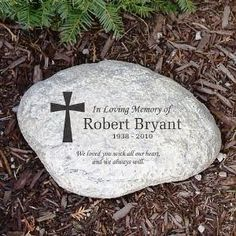 Place this touching Memorial Stone in your garden or at the resting place of your loved one. Personalized Memorial Garden Stones are a great way to express your love, feelings and honor their memory forever.