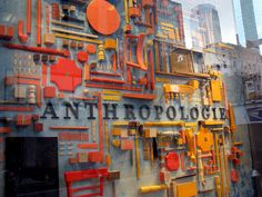 Anthropologie window.  Love the use of elements as well as the color palette.