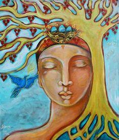 Woman Listening - by Shiloh Sophia McCloud.