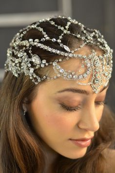 Exquisite Elena Designs E788 Queen Hera Wedding Headpiece - stunning! -Affordable Elegance Bridal -