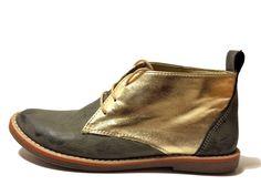 Be Mine Bootie. #gray #gold #veganshoes #vegan #design #fashion #women #shoes #veganboots #liloencinas