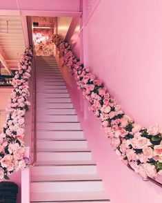Image in pretty n pink collection by nez夜 on We Heart It Bedroom Wall Collage, Photo Wall Collage, Picture Wall, Pink Cafe, Beauty Salon Decor, Pink Photo, Pink Houses, Pink Room, Pink Walls