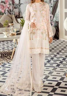 Pakistani Dresses Chiken Kari Luxury Viscose Collection Winter suit Embroidered Salwar Kameez Chiffon Dupatta Unstitched 3 pcs UK Stock