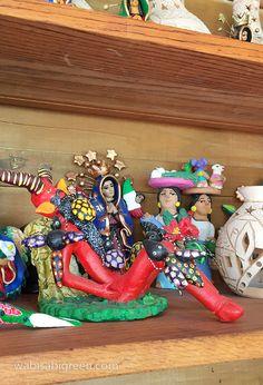 Mexican wood carvings at Casa Mañana, San Pancho