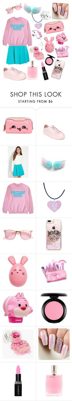 """""""cotton candy"""" by emo-god ❤ liked on Polyvore featuring Anya Hindmarch, Madden Girl, Forever 21, ZeroUV, Casetify, Disney, MAC Cosmetics and Smashbox"""
