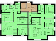 Zwei Erdgeschosswohnungen mit Treppenhaus und Aufzug und jeweiligem Technikraum