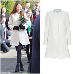 Kate Middleton inspiration - wear a collared blouse/dress with an un-collared coat!