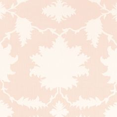 Garden of Persia | 175031 in Blush Conch | Schumacher Fabric by Mary McDonald |  Inspired by an antique Persian carpet, this dramatically scaled, graphic print features silhouettes of flowers and leaves.