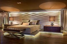 Tendência da vez na decoração é o revestimento 3D. / Elisa Navarro - Design de Interiores - Maringá - PR