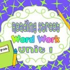 This is a collection of worksheets for all the stories included in Reading Street Unit 1:  * Sam, Come Back!  * Pig in a Wig  *The Big Blue Ox  * A Fox...