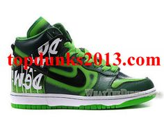 cheap for discount ae155 79990 Shop High Top Do The Dew Green Label Art Event Custom Nike Dunk Men Review