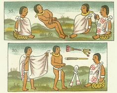 Aztec Slave Market-The Aztecs additionally had landless serfs and slaves. Serfs worked land that was owned by nobles and did not live in the calpulli. Individuals became slaves (tlacotin) as a form of punishment for certain crimes or for failure to pay tribute. Prisoners of war who were not used as human sacrifices became slaves. An individual could voluntarily sell himself or his children into slavery to pay back a debt (the latter required permission of the court).