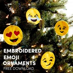 Embroidered-Emojie Ornaments Free Download