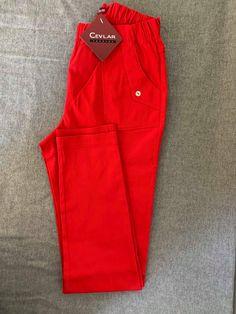 Spodnie z bengaliny Cevlar B09 kolor czerwony - Big Sister