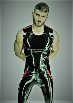 Leather Men, Leather Pants, Shiny Fabric, Young Men, Catsuit, Clubwear, Cowboys, Handsome, Mens Fashion