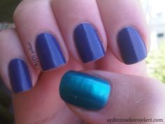 31 day nail art challenge Day 21 - Inspired by a color: Blue